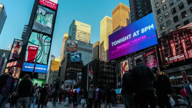 Time Lapse of Times Square at Dusk, New York City video