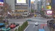 Time lapse of Tokyo Shibuya crossing video
