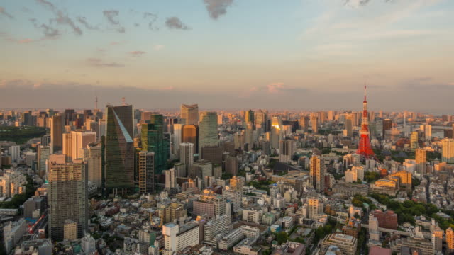 Time lapse of Tokyo skyline in Japan video