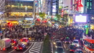 Time lapse of Top view of Shibuya Crossing video