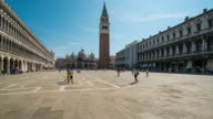 Time Lapse of Tourist at St.Mark's Square, Venice video