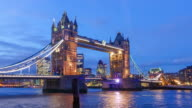Time lapse of Tower Bridge in London video