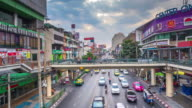 Time Lapse of Traffic in Downtown Bangkok During Sunrise. video