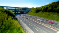 Time lapse of trafic on the M25 Motorway video
