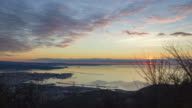 Time lapse of Trieste gulf with the sunset video