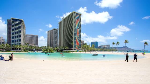 Time lapse of Waikiki beach Honolulu Hawaii video
