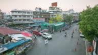 Time lapse of Waroroj market in evening (Chiangmai, Thailand) video