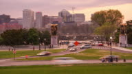 Time lapse of Washington, DC  with the Rosslyn, Arlington, Virginia skyline video