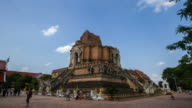Time Lapse of Wat Chedi Luang Temple in Chiang Mai Thailand video
