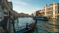 Time Lapse of water transportation at Grand Canal, Venice video