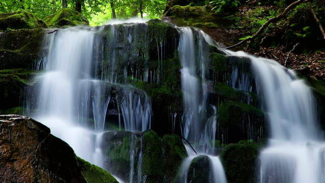 4K time lapse of waterfall video