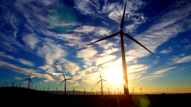 Time lapse of Wind Turbines video