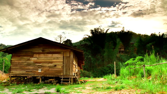 Time Lapse of Wooden Hut in Thailand video