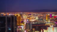 Time lapse of World famous Vegas Strip in Las Vegas, Nevada video