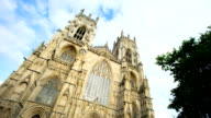 Time lapse of York Minster in the city of York, England UK video