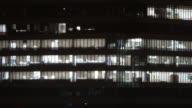 4K Time lapse offcie building light video