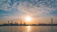 Time Lapse : Oil refinery with river reflection video