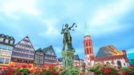 4K Time Lapse : old town in Frankfurt video