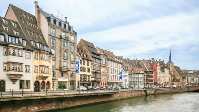 4K Time Lapse : old town in Strasbourg video
