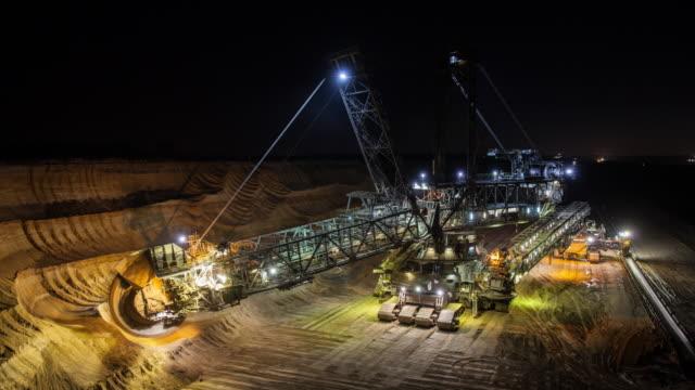 Time Lapse: Open cast  Coal Mining video