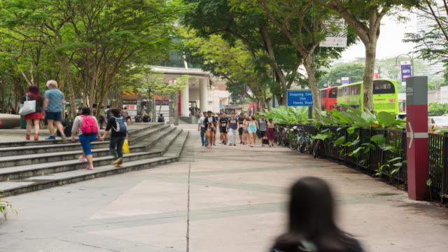 4K Time Lapse : Orchard road shopping mall and metro entrance video