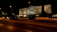 Time Lapse Parliament Building Capital Cities Athens at Night video