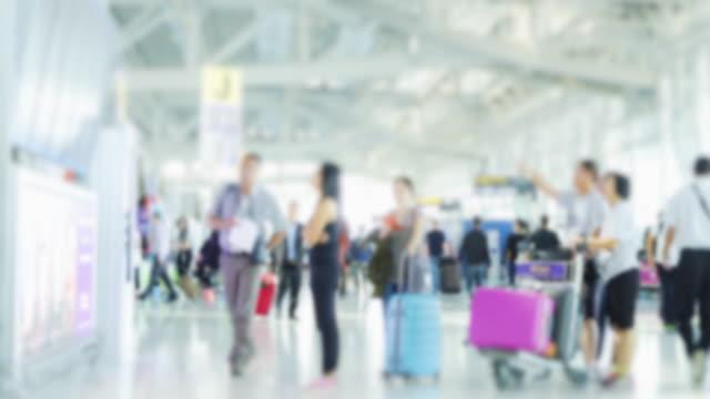 4K time lapse passenger check schedule flight video