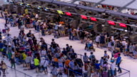 HD Time Lapse : Passengers at airport check in counter video