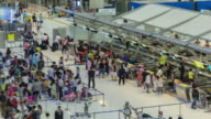 Time Lapse : Passengers in airport check in zone video