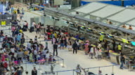 Time Lapse : Passengers waiting to check in at the airport video
