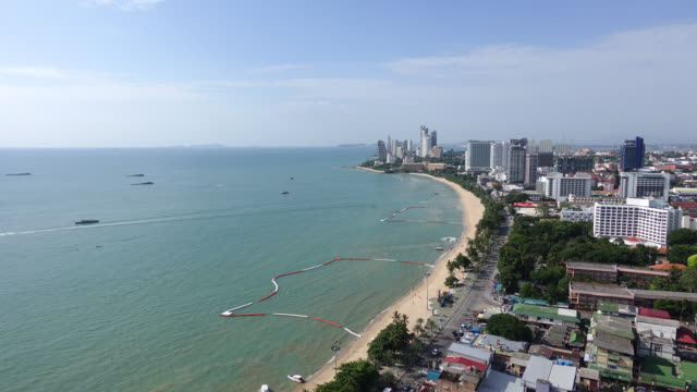 4K Time lapse Pattaya city and Ocean bay video