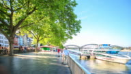 4K Time Lapse : Pedestrian crowded at Rhine Garden town square video
