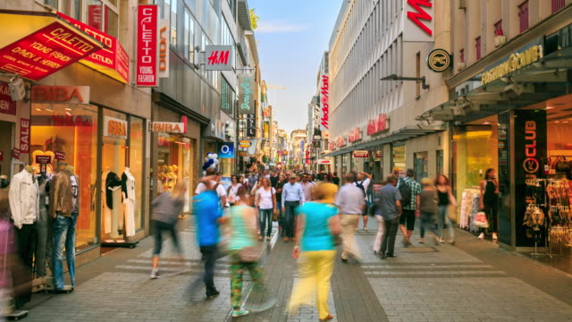 4K Time Lapse : Pedestrian crowded at Shopping Zone video