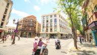 4K Time Lapse : Pedestrians at Seville downtown Square video