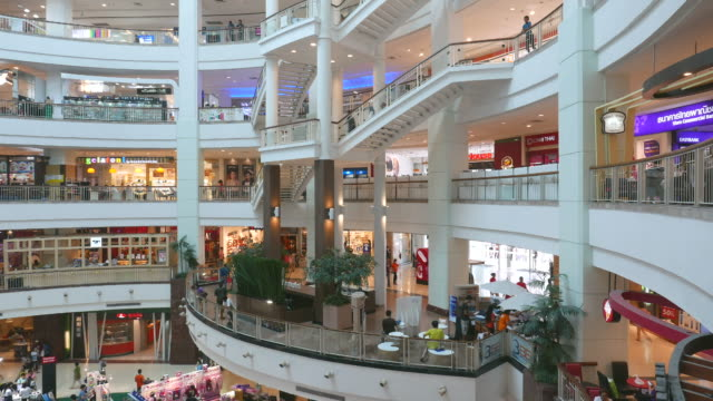 Time lapse people in shopping mall market video