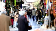 time lapse people shopping in Athens video