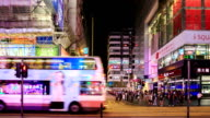 HD Time lapse : People shopping place in Hong Kong video