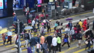 Time lapse : People shopping place in Hong Kong video
