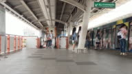 Time Lapse: People traveling on subway station Bangkok video