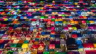 4K Time Lapse: People Walking In Popular Night Market At Bangkok, Thailand video