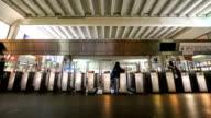 HD Time Lapse : People walking into the door Metro video
