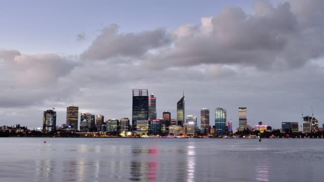 4K Time lapse: Perth Skyline at Sunset, Australia video
