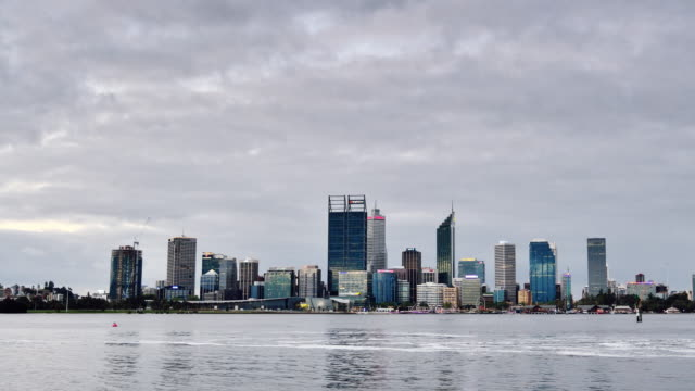 4K Time lapse: Perth Skyline From Day to Night, Australia video