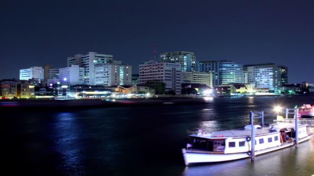 Time lapse Pier River Chaopraya video