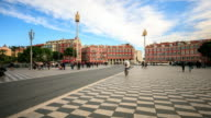 4K Time Lapse : Place Massena in Nice video