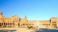 4K Time Lapse : Plaza de Espana Seville video