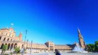 4K Time Lapse : Plaza de Espana Seville video
