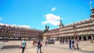 4K Time Lapse : Plaza Mayor Madrid video