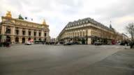 HD Time Lapse : Plaza Opera in Paris video