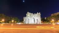 4K Time Lapse : Puerta de Alcala, Madrid video